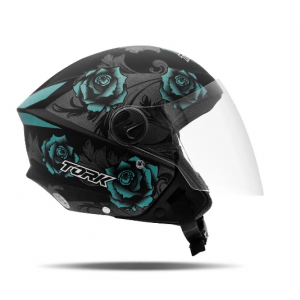 CAPACETE TORK NEW LIBERTY 3 FLOWERS FO/21